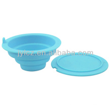 foldable silicone tea infuser with lid