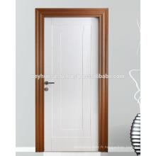 Porte intérieure moulée laquée avec cadre en teck