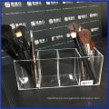Vanity Posh Clear Acrylic Brush Holder con tapa