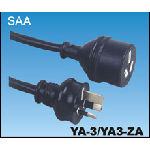 Australian SAA Male to Male Power Cord
