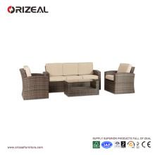 Juego de sofá de 3 plazas con respaldo de ratán OZ-OR065