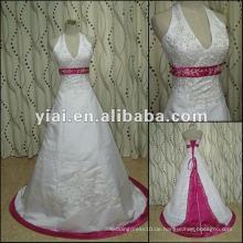 JJ2739 Halter wulstiges Stickerei-Hochzeits-Kleid 2012