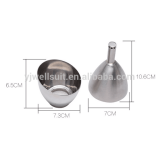Stainless Steel Wine Aerator Shower Funnel with Sediment Strainer