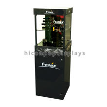 Floorstand linterna Venta al por mayor de madera de acrílico plegable de lujo Electronics Colectores de pantalla gabinete