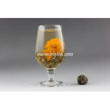 Marigold Halal Flowering Tea Balls Royal Lili Bloom Tea