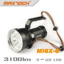 Maxtoch MI6X-6 Mango linterna 3100 lúmenes de alta potencia LED Cree buscar luz