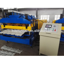 Light Gauge Aluminium Roofing Sheet Making Machine, galvanisé Iron Steel Roof Tile Making Machine
