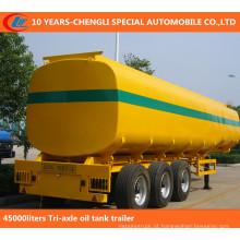 Reboque do tanque de óleo do Tri eixo do 45000liters, depósito de gasolina semi reboque