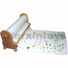 Wooden Roll Paper Stand for Drawing (80917)