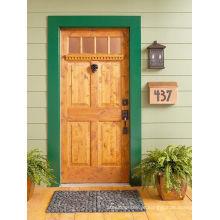 4 portas de madeira exteriores de madeira claras da madeira de pinho do painel 4 pintadas