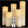 5 * 5Led White Wedding Lilin Scented Candle Pillar