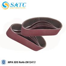 Cinturones de lijado abrasivos de alúmina para lijadora de correas