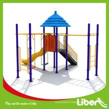 Tube Slides Kids Backyard Playground avec toboggans et Swing Set