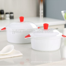 2.5L casserole with silicone handles, large size