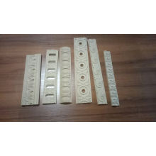 margin embossed white wood dyed colour molding
