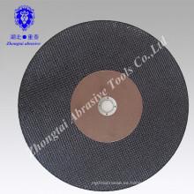 Disco abrasivo tipo corte y discos de pulido