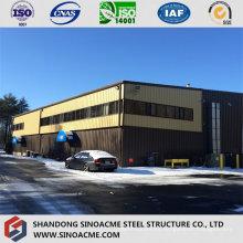 Almacén de estructura de acero personalizado con revestimiento de chapa metálica