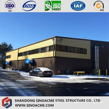 Customized Steel Structure Warehouse with Metal Sheet Cladding