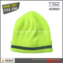 High Visibility Warm Reflective Safety Knitted Hat