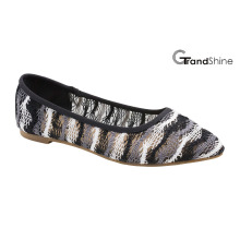 Women′s Lace Causal Flat Ballet Shoes