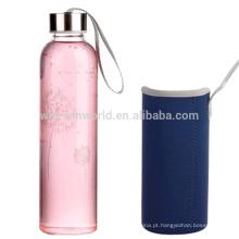 Garrafa de água de vidro do chá da bebida da parede dobro com infusor do chá