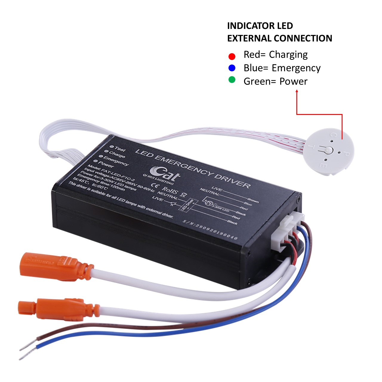 led emergency conversion pack