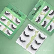 Womens Eyelashes Enlarge the Eyes Magnetic Natural Fake Eye Lashes 3d Faux Eyelashes Vendor with Logo