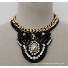 Damen Bead Crystal Fashion Charm Chunky Kostüm Choker Halskette (JE0016)