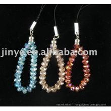 Lanière perlée par cristal de mode, Bling 6mm Galss collier en cristal longe