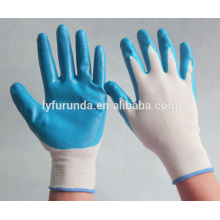 13G nylon knitted nitrile coated work gloves