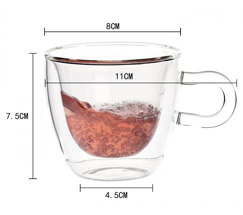 Glass Coffee Mugs Iced Tea