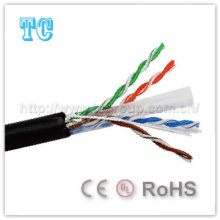 Ce Certificate Cat 6 Cable de red exterior UTP
