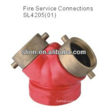 Заводская цена, конкурентоспособная латунная редукционная арматура пожарный гидрантный клапан
