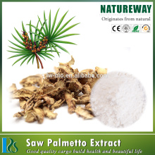 100% natural Saw Palmetto Frui Extract Powder 45% fatty acids saw palmetto extract