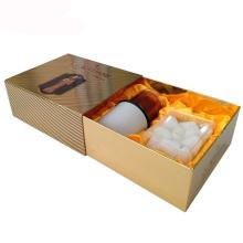 Caja de regalo de vela de papel de oro deslizante para vela