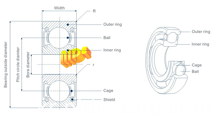Ball bearing drawing
