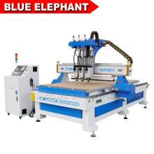 1325 Three Processes Multi Head CNC Router Machinery with Hqd Air Cooling Spindle for Wooden Furniture Ornaments