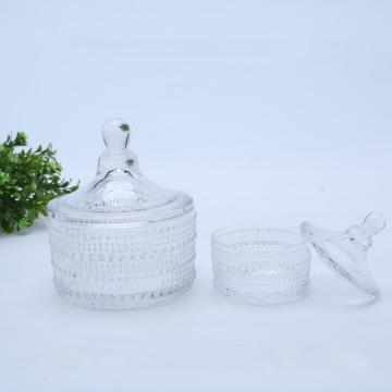 Pearl Crystal Glass Candle / Candy Jars