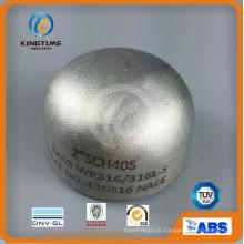 Aço Inoxidável 304 / 304L Cap Acessórios de Tubulação de Solda com TUV (KT0208)