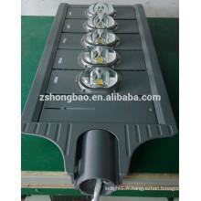 Haute puissance 250watt lumières led route route projet IP65 LED Street Lights BridgeLux 120Lm / w lampe de route LED solaire