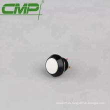 Amarillo Azul Blanco Verde Naranja Negro Cabeza redonda 12 mm SPST Interruptor de botón de encendido y apagado de metal