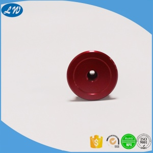Red anodised aluminium cnc earphone shell part