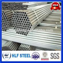Tuyau en acier galvanisé pour cadre de serre
