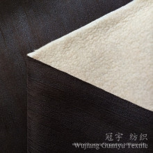 Home Textile Printed Suede Fabric with Thick Fleece Backing