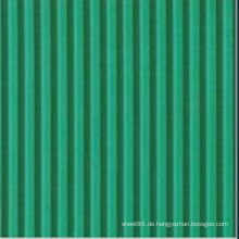 Grüne gerippte flammhemmende Neopren-Gummiplatte