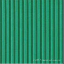 Feuille de caoutchouc néoprène ignifuge côtelé vert