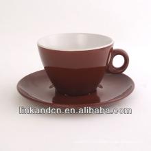 KC-03002high calidad exportó la taza del café con el platillo, taza de té simple
