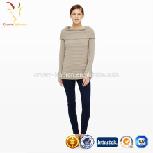 Pattern Big Collar Ladies Thick Wool Knitted Sweater
