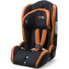 Child car seat with orange black covers