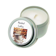 Paraffin Wax Metal Tin Fragrance Oil Candle